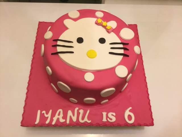 Hello Kitten Birthday Cake Kitten Cake Topper Rad Cakes